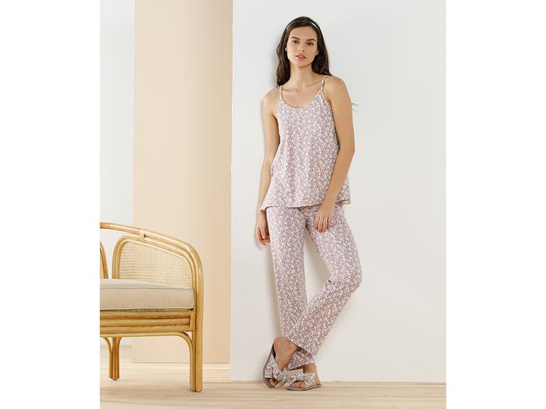 Pretty Desenli Viskon Pijama Takımı S Gül Kurusu