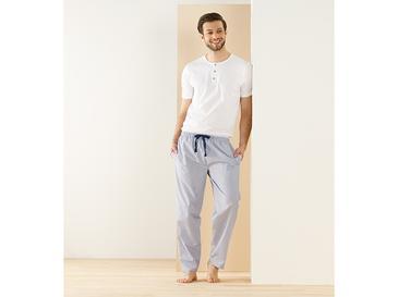 Navy Line Pamuklu Pijama Takımı M Mavi