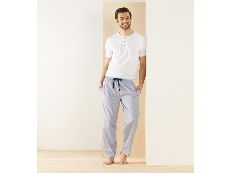 Navy Line Pamuklu Pijama Takımı L Mavi