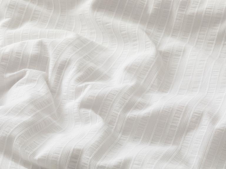 Gofre Çift Kişilik Nevresim Takımı 200x220 Cm Beyaz