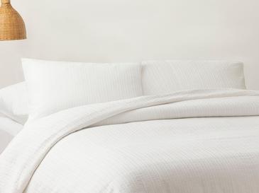 Gofre Tek Kişilik Nevresim Takımı 160x220 Cm Beyaz