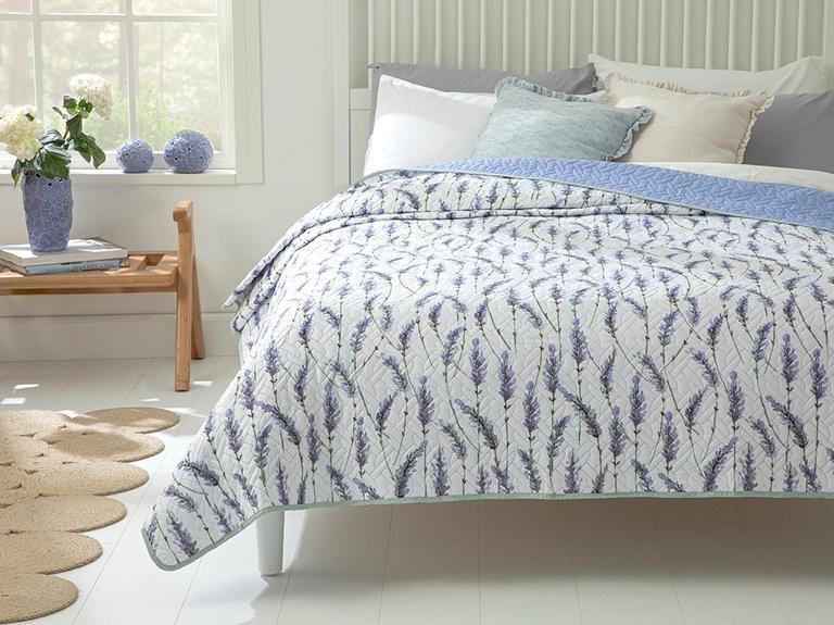 Lavender Çift Kişilik Çok Amaçlı Yatak Örtüsü 200x220 Cm Lila