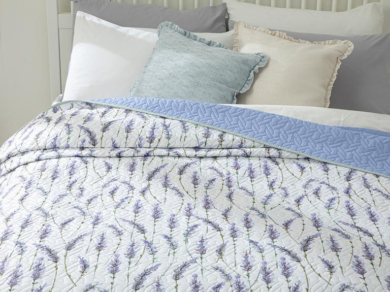Lavender King Size Çok Amaçlı Yatak Örtüsü 240x220 Cm Lila