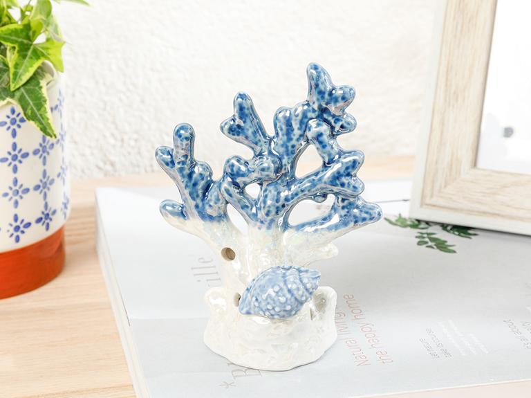 Blue Shell Dekoratif Obje 9,7x6,8x13 Cm Mavi