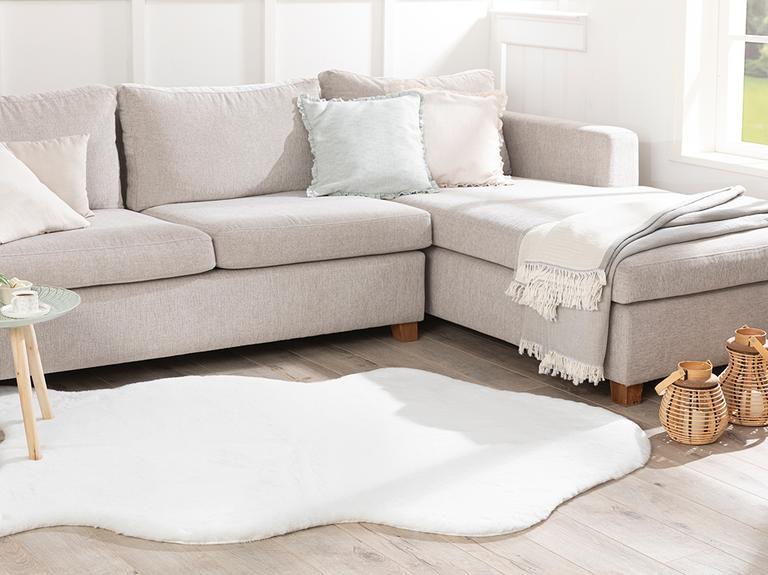 Solid Rabbit Polyester Post 120x180 Cm Beyaz