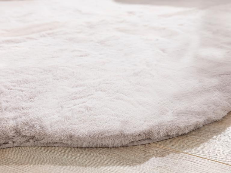 Solid Rabbit Polyester Post 80x150 Cm Gri