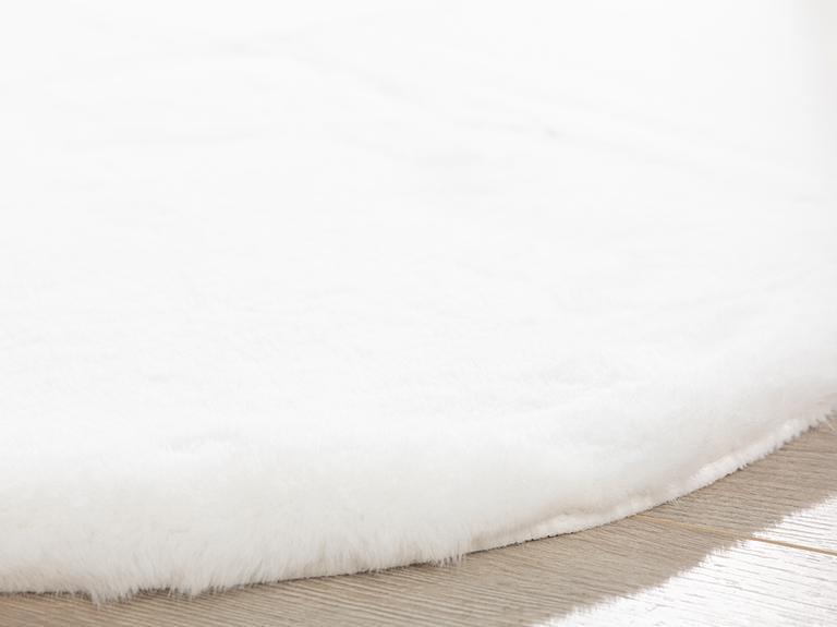 Solid Rabbit Polyester Post 80x150 Cm Beyaz