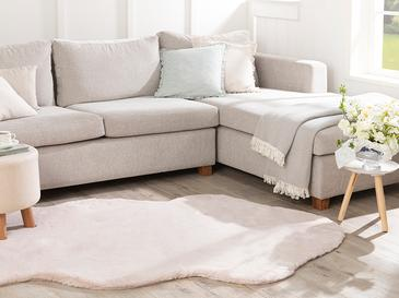 Solid Rabbit Polyester Post 120x180 Cm Pudra