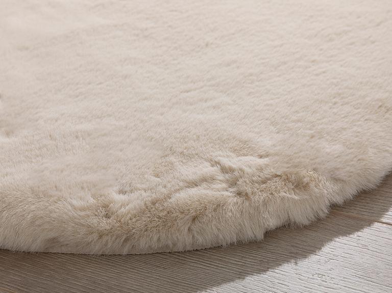 Solid Rabbit Polyester Post 80x150 Cm Bej