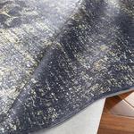 Silk Touch Tony Kadife Halı 80x140 Cm Lacivert