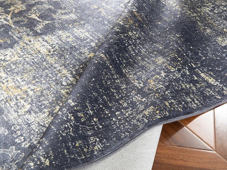Silk Touch Tony Kadife Halı 80x250 Lacivert