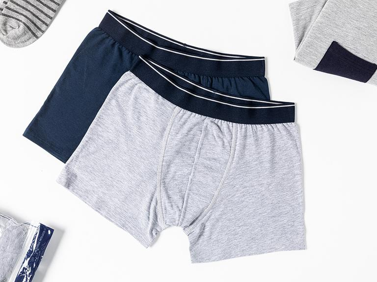 Comfort Cotton Pamuklu Erkek 2'li Boxer XXL Lacivert-Gri