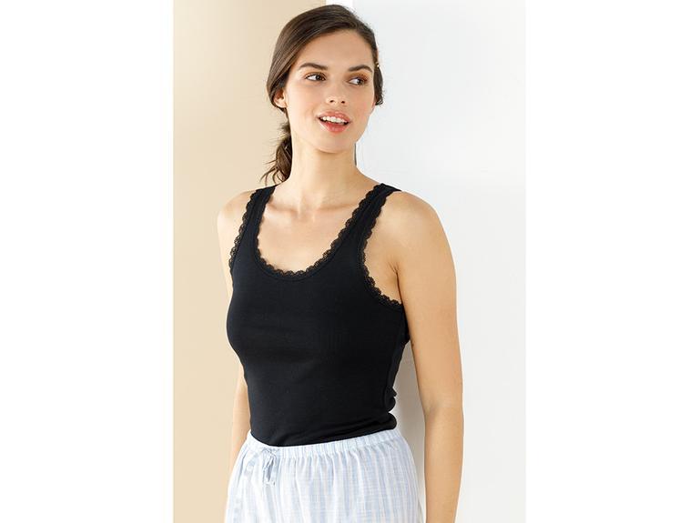 Basic Cotton Kalın Askılı Pamuk Kadın Atlet M Siyah