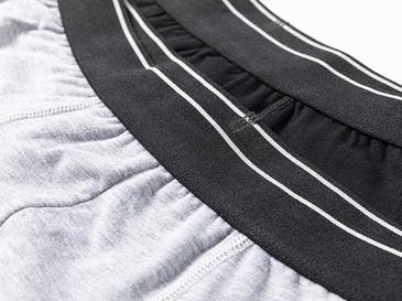Comfort Cotton Pamuklu Erkek 2'li Boxer XXL Siyah - Gri