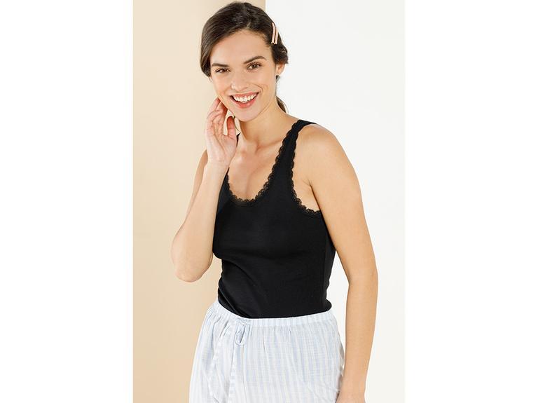 Basic Cotton Kalın Askılı Pamuk Kadın Atlet L Siyah