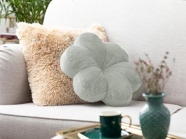 Bloom Kadife Dekoratif Kırlent 40x40 Cm Su Yeşili