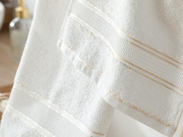 Shiny Stripe Lureksli 2'li Kutulu Havlu Seti 30x45-50x80 Cm Açık Bej
