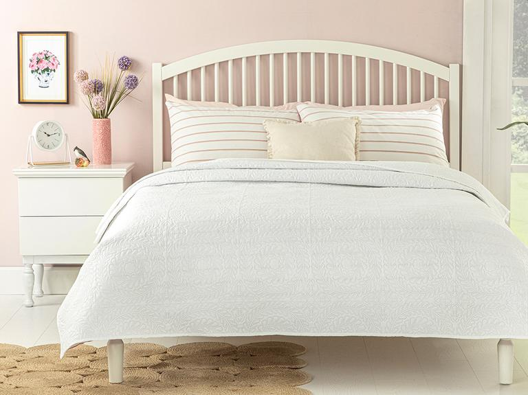 Ivy Chic Tek Kişilik Çok Amaçlı Yatak Örtüsü 160x220 Cm Beyaz