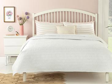 Ivy Chic Çift Kişilik Çok Amaçlı Yatak Örtüsü 200x220 Cm Beyaz