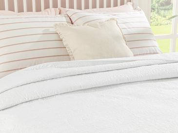 Ivy Chic King Size Çok Amaçlı Yatak Örtüsü 240x220 Cm Beyaz