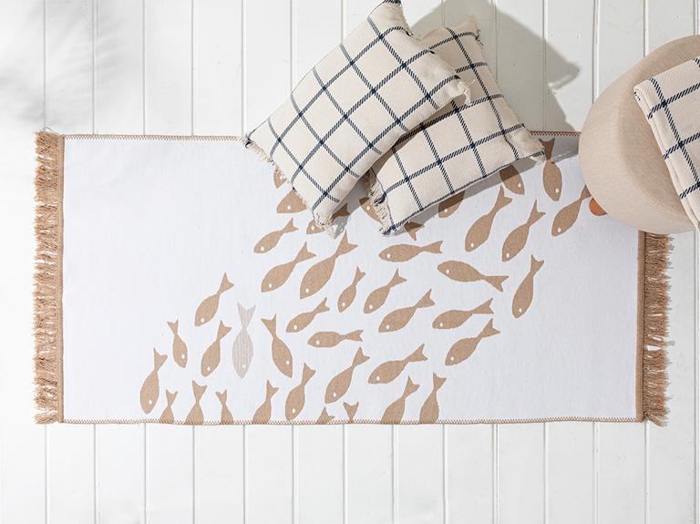 Little Fish Dokuma Kilim 60x100 Cm Bej