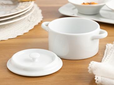 Classy Porselen Tencere 525 Ml Beyaz