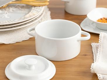 Classy Porselen Tencere 325 Ml Beyaz