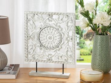 Rhonda Dekoratif Obje 30x6x38cm Beyaz