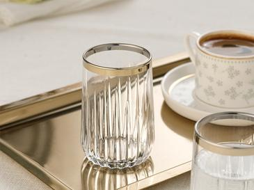 Puget Cam 6'lı Kahve Yanı Su Bardağı 135 Ml Gold