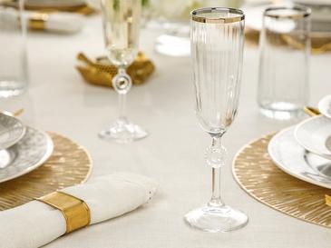 Puget Cam 2'li Şampanya Kadeh 150 Ml Gold
