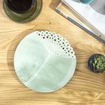 Dandelion Dekoratıf Tabak 20.6x20.6x2.4 Cm Yeşil