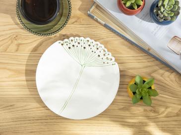 Dandelion Dekoratif Tabak 20.6x20.6x2.4 Cm Bej