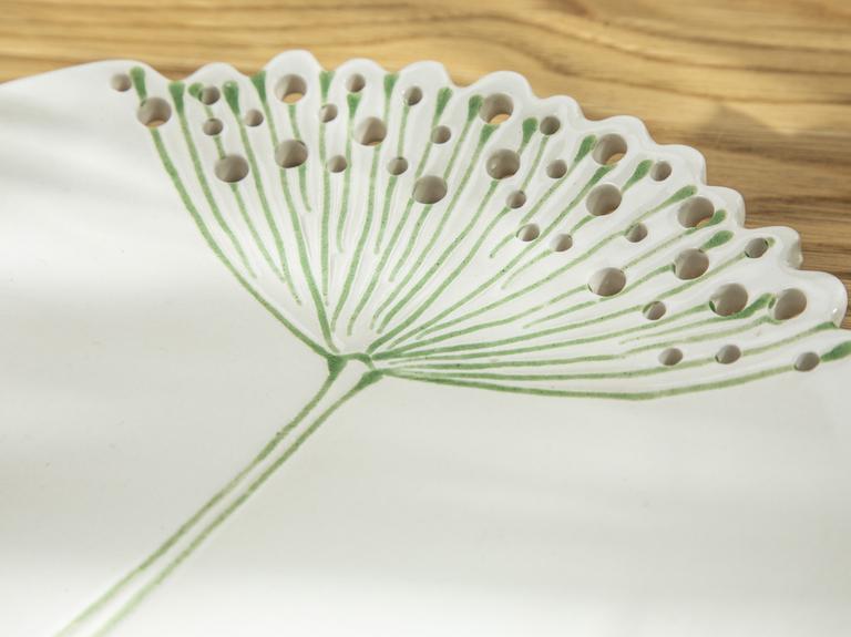 Dandelion Dekoratıf Tabak 20.6x20.6x2.4 Cm Bej
