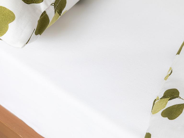 Summer Ivy Krep Tek Kişilik Nevresim Takımı 160x220 Cm Yeşil