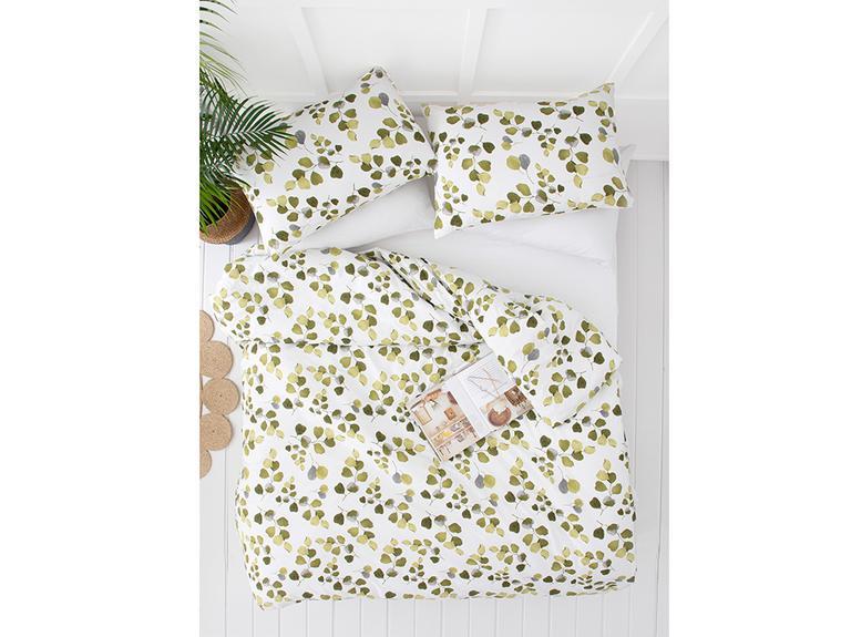Summer Ivy Krep Çift Kişilik Nevresım Takımı 200x220 Cm Yeşil