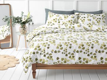 Summer Ivy Krep King Size Nevresim Takımı 240x220 Cm Yeşil