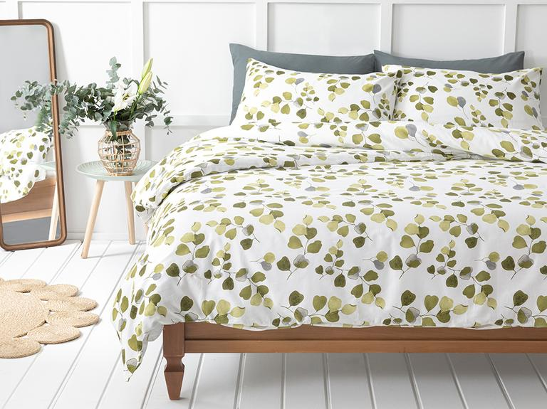 Summer Ivy Krep King Size Nevresım Takımı 240x220 Cm Yeşil