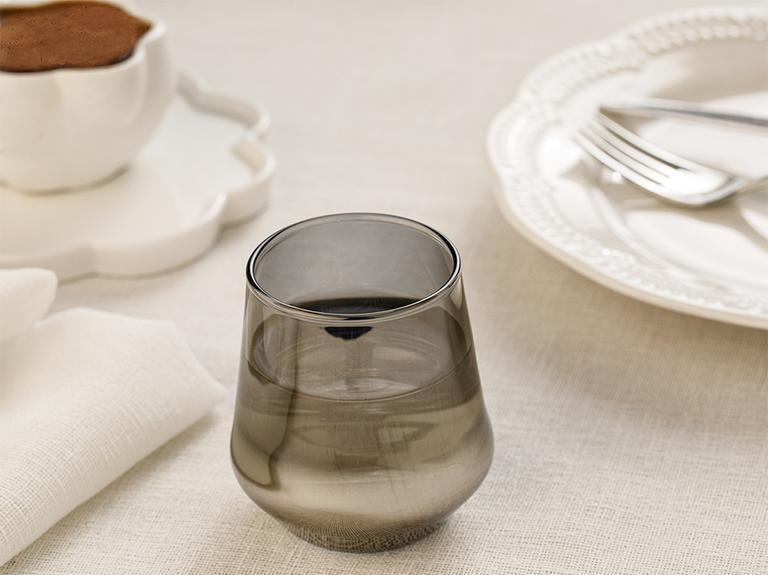 Lydia Cam 4'lü Kahveyanı Su Bardağı 115 Ml Gümüş