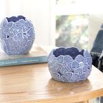 Hortensia Porselen Dekoratif Kase 11.4*11.4*11 Cm Lila