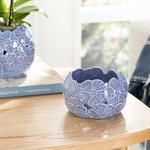 Hortensia Porselen Dekoratif Kase 12.3*12.3*8.2 Cm Lila