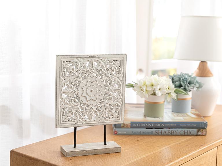 Antique Dekoratif Obje 20x6x27.5cm Beyaz