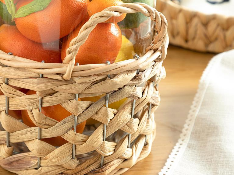 Basket Cam Vazo 18x18x22 Cm Şeffaf