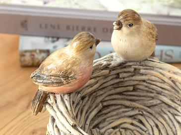 Birds Dekoratif Obje 16x16x14cm Kahve