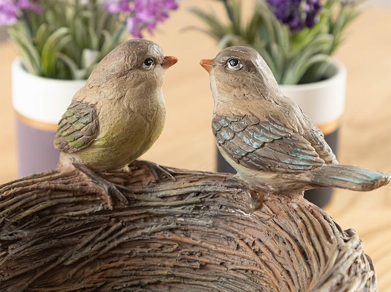 Birdy Dekoratif Obje 19x19x13 Cm Kahve
