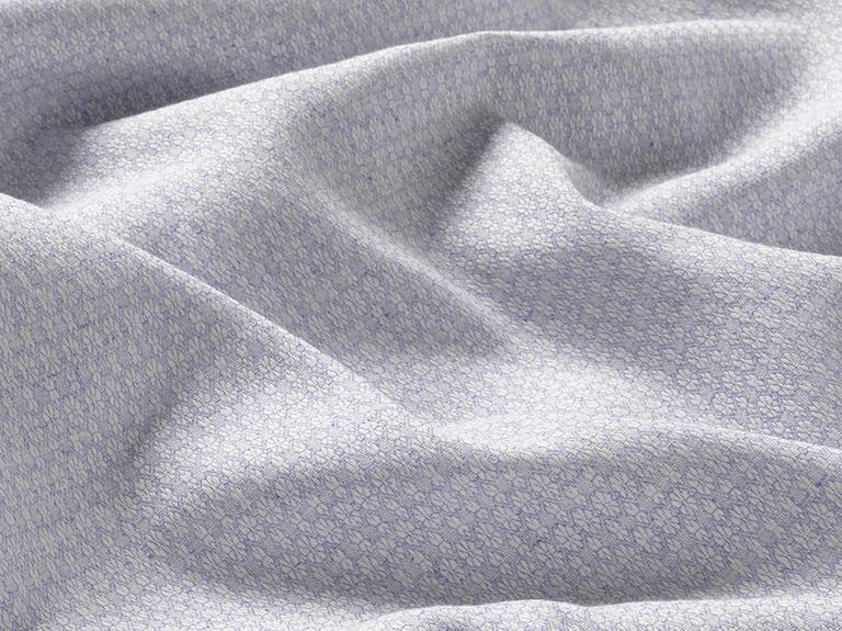 Petite Daisies İpliği Boyalı Tek Kişilik Nevresim Takımı 160x220 Cm Leylak