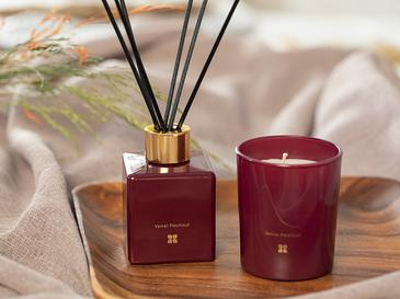 Velvet Patchouli Kokulu 2'li Set  Bordo