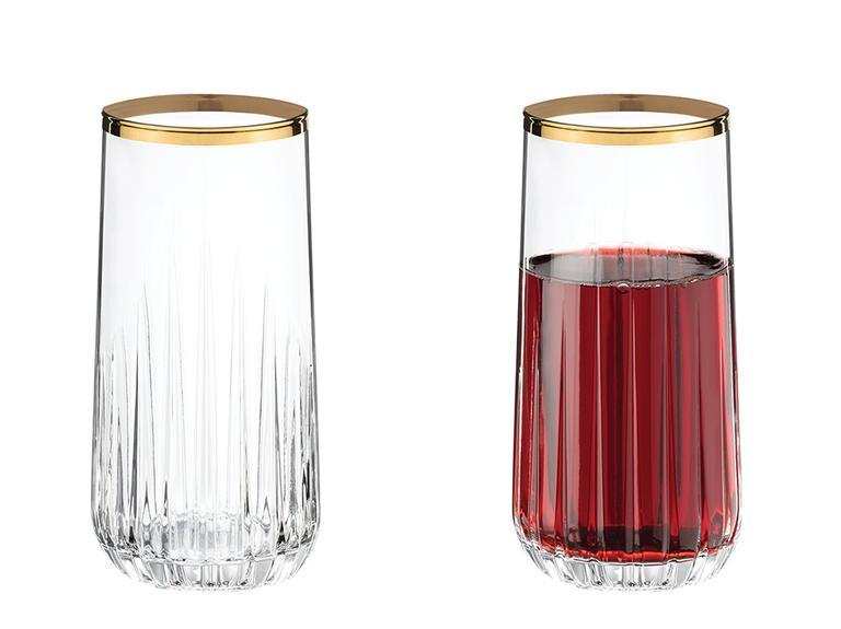 Puget Cam 4'lü Meşrubat Bardağı 360 Ml Gold