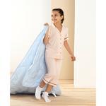 Mom&Girl Çocuk Viskon Pijama Takımı 9-10 Yaş Pudra