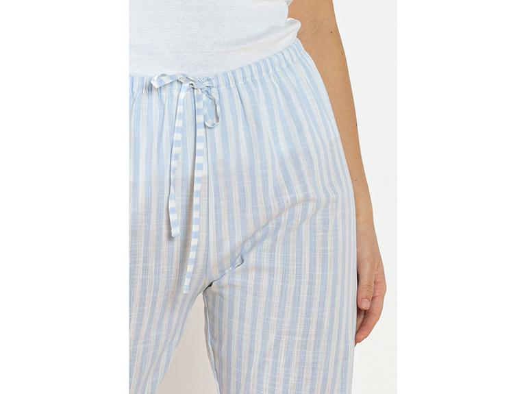 Striped Blue Dokuma Uzun Tek Alt S Mavi