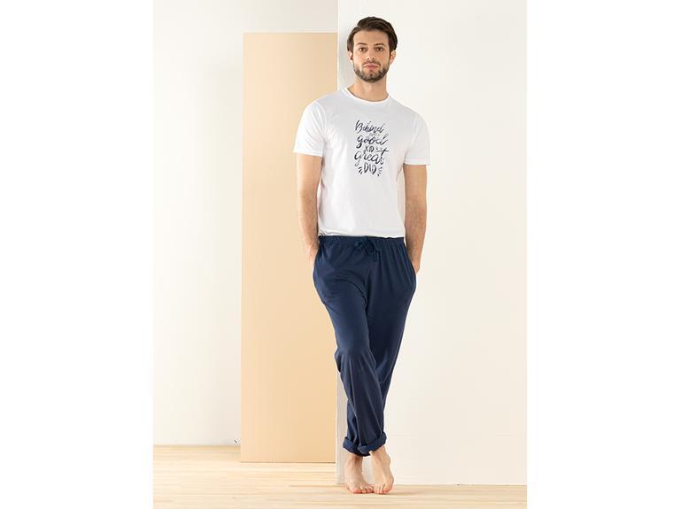 Father & Son Pamuk Pijama Takımı L Lacivert